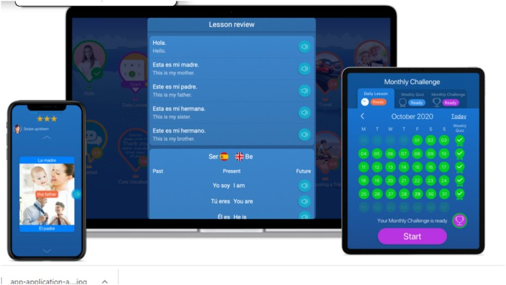 Mondly app to learn languages